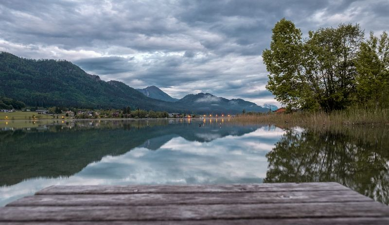 Sunrise in the lake Weissensee IIphoto preview