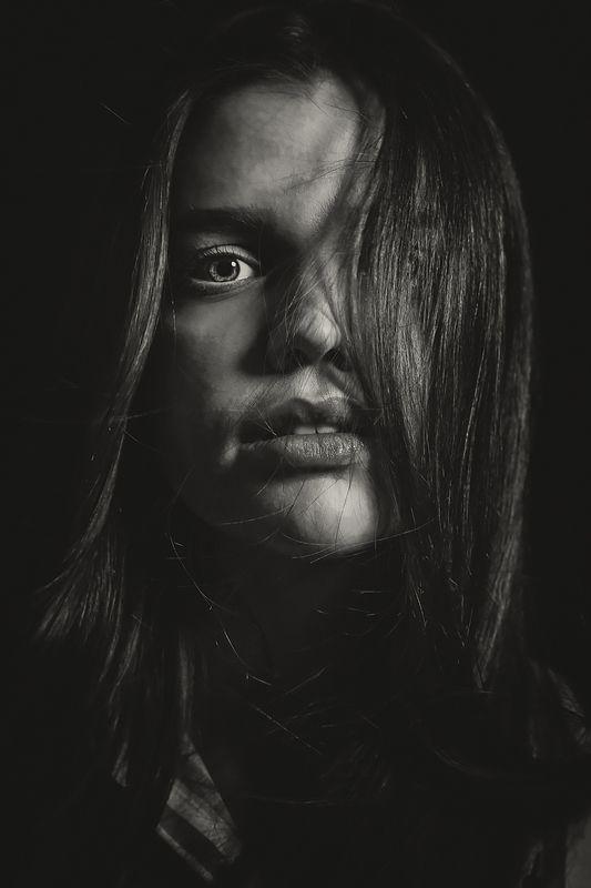 портрет, глаза, женщина, волосы Марина.photo preview
