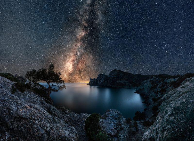 крым, новый свет, мыс капчик, ночь, млечный путь Крымская ночьphoto preview
