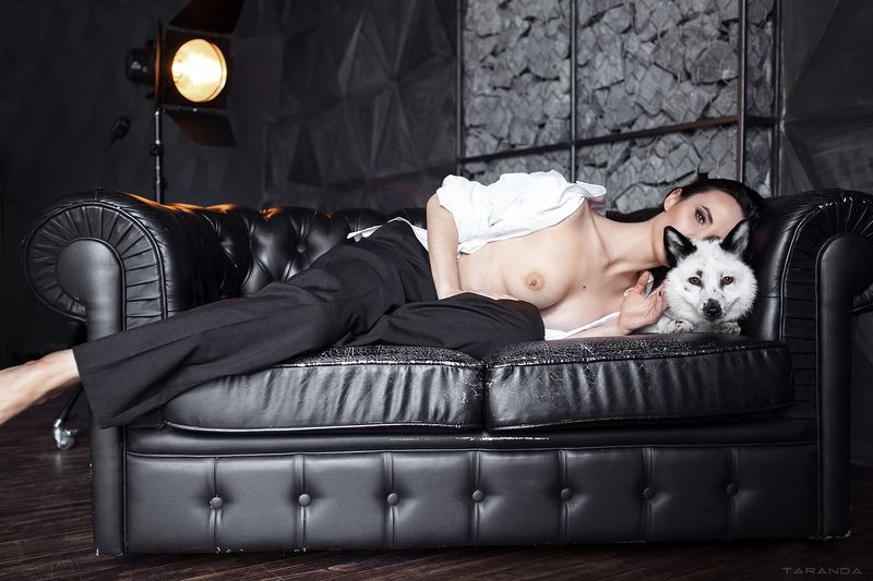 kiev, nu, nude, sexy, black, suit, ukraine, girl, model, studio, colors, range, loft, dark, fox, bw Black Foxphoto preview