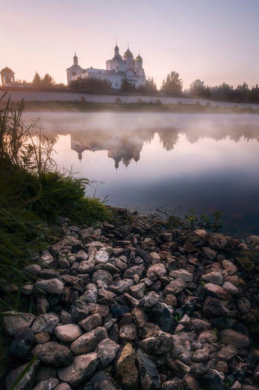 природа, пейзаж, монастырь, храм, россия, туман,  nature, landscape, monastery, temple, russia, fog Троицкий Болдин монастырьphoto preview