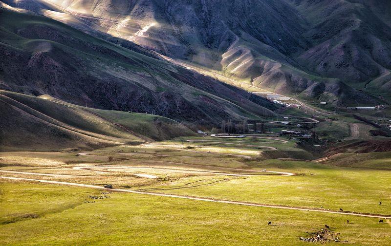пейзаж,  природа, горы, облака, солнце, закат, лучи солнца, казахстан, величие, поле,  фотограф, алматы, фотограф алматы, landscape, the sun, nature, the mountains, awesome, amazing, kazakhstan, almaty, photographer,  sunset, beauty,  Жизнь в горахphoto preview