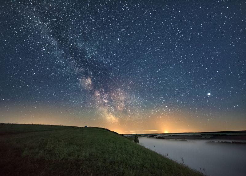 ночь,туман,млечный путь,звёздное небо,night,star sky,milk way,fog Про космосphoto preview