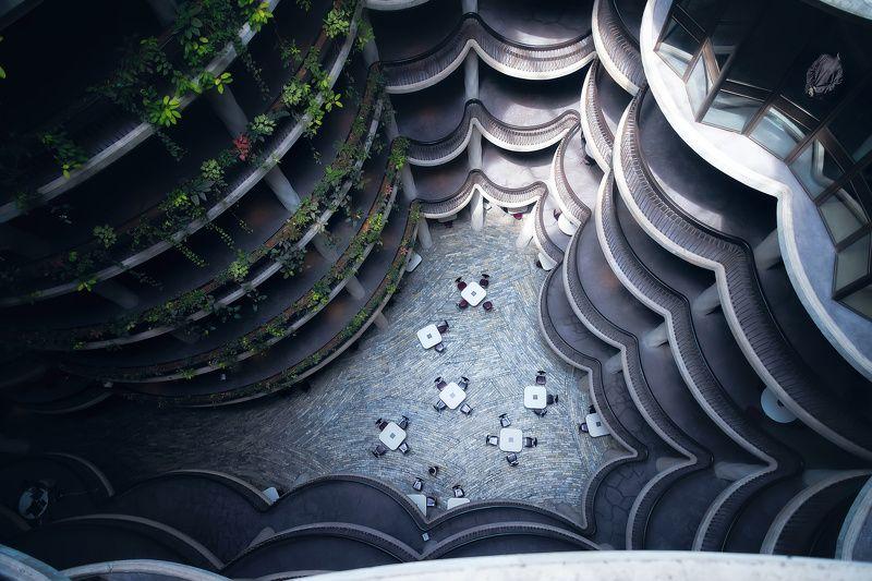 архитектура, сингапур, абстракция Одиночество в сетиphoto preview