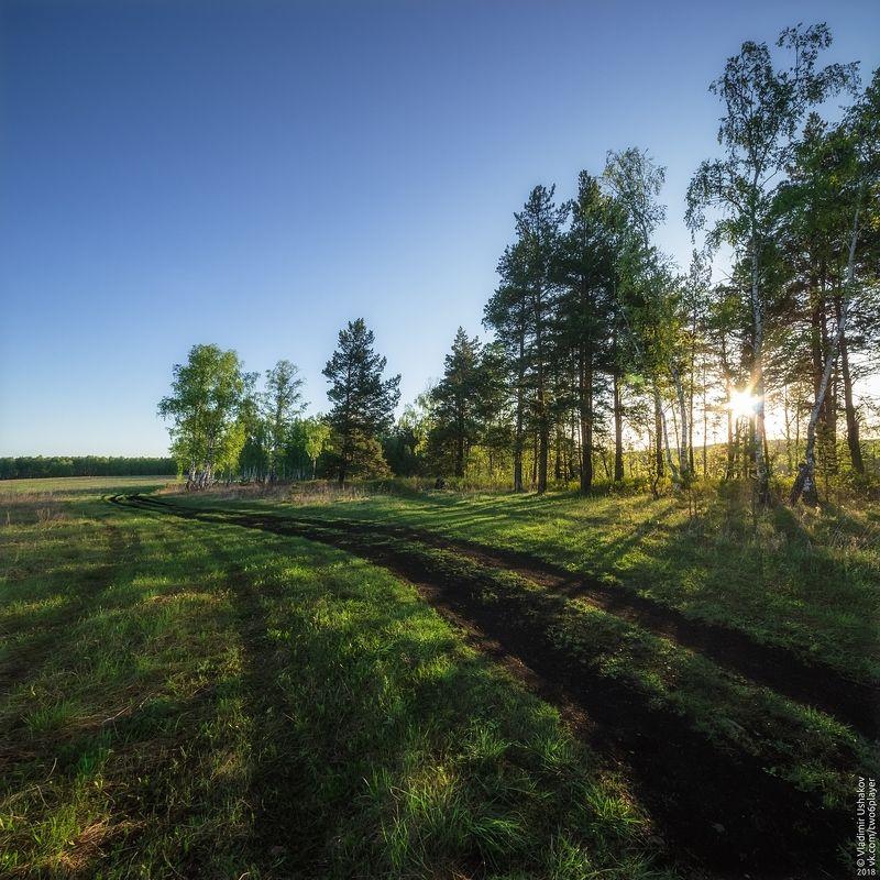 утро, рассвет, скалы, река, ай ,большой айский притес, лес, поле, дорога, челябинская область Дорога к притесуphoto preview