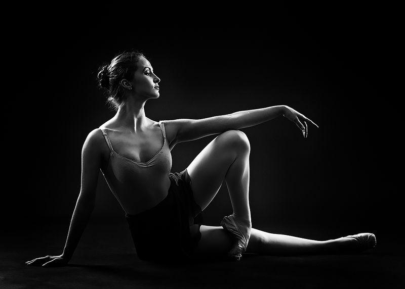 женщина, красота,  силуэт, танцовщица, балерина Грация.photo preview
