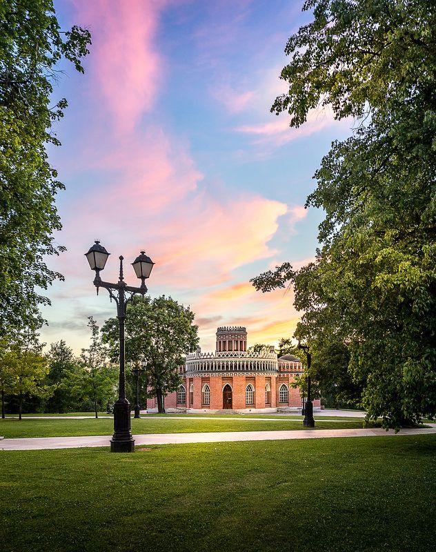 царицыно, архитектура, закат, парк, культура, пейзаж Закат в Царицыно.photo preview