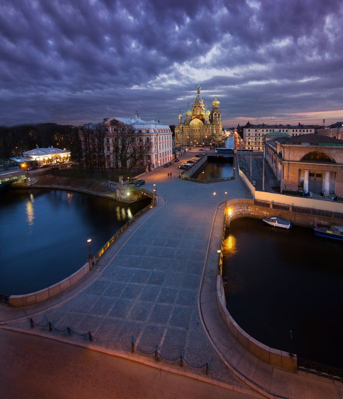 санкт-петербург, россия, церковь, закат, река Спас на Кровиphoto preview