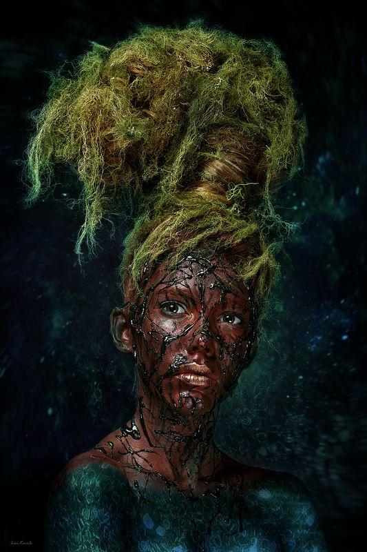 славяне,портрет, древо, мироздание, корни, ветви, небо, преисподняя, мир, вселенная, девушка, креатив, студия, ivankovale Arbor mundiphoto preview