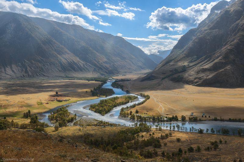 река, алтай, горы Долина реки Чулышманphoto preview