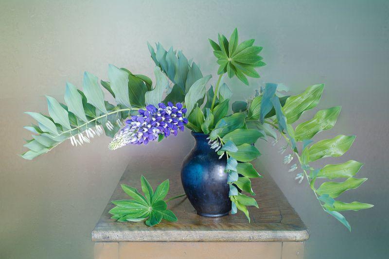 купена,люпин,букет,изгиб,цветы, Купена и люпинphoto preview