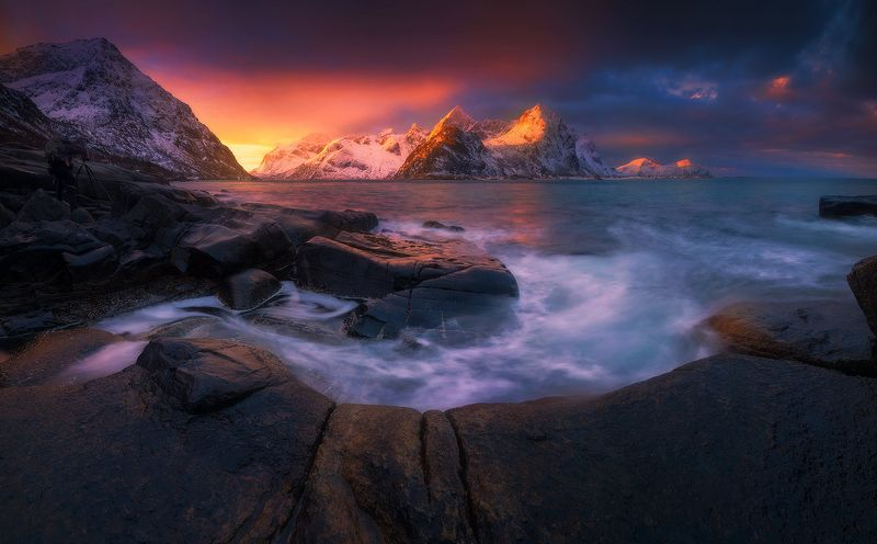 vareid  norway seascape landscape sunrise mountains  vareid IIIphoto preview