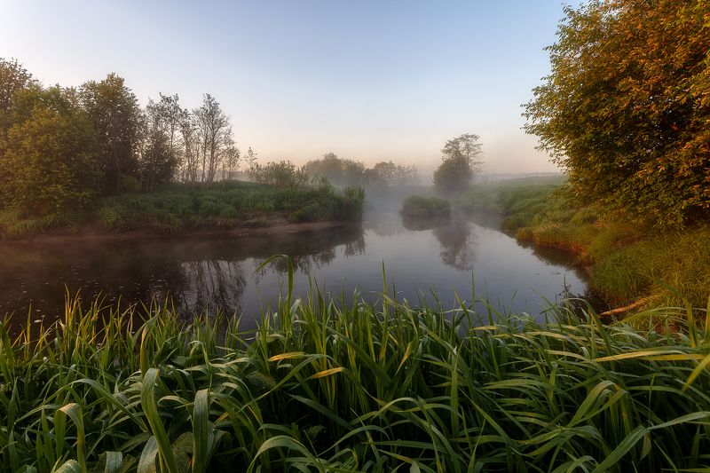 рассвет пейзаж утро туман река Под гипнозом у природы.photo preview