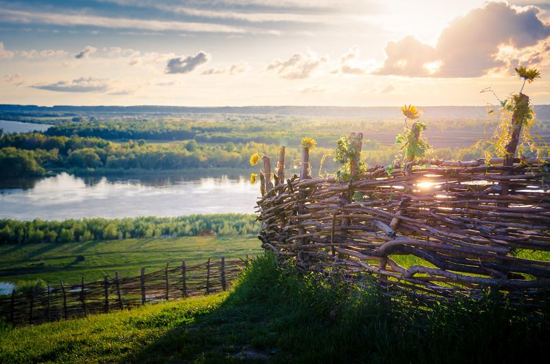 россия, деревня, глубинка, природа, тобольск, абалак, landscape, village, country Плетеньphoto preview