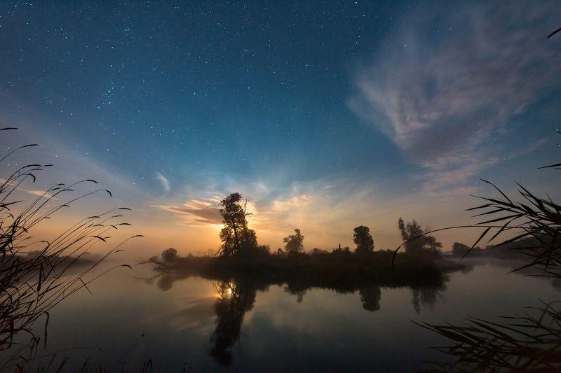 лунный свет,звёздное небо,ночь Ночной восходphoto preview