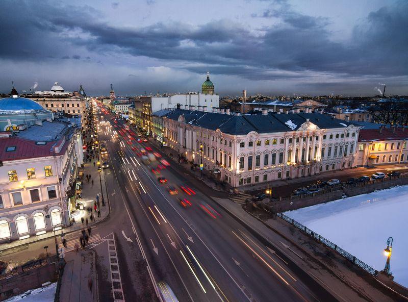 россия, петербург, санкт-петербург, крыши, rooftop, roof. above Невский проспектphoto preview