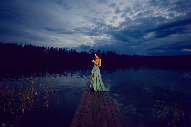 girl, model, cute, light, color, pleinair, night Kupala Nightphoto preview
