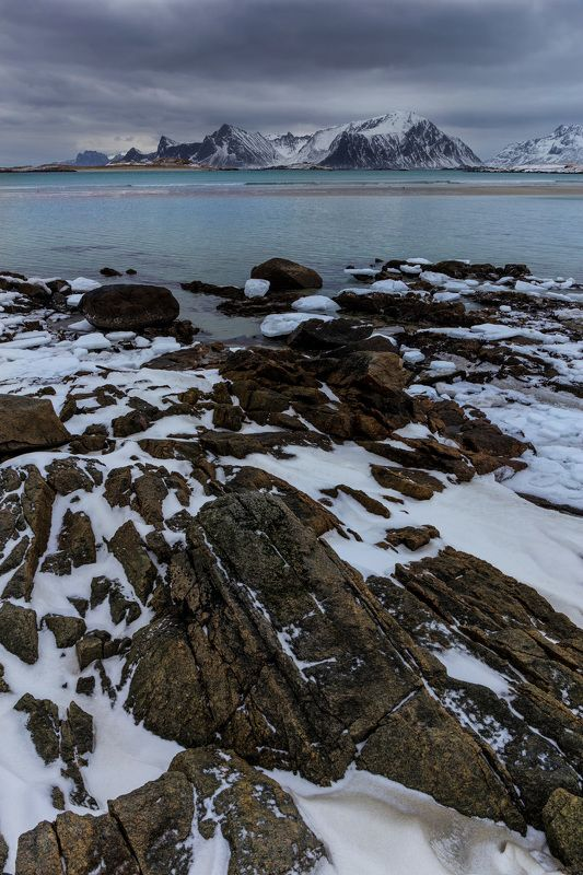 пейзаж, горы, камни, путешествие, норвегия, landscape, travel, norway, lofoten, stones Красоты севераphoto preview