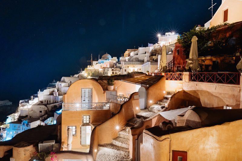 santorini, greece, travel, sony, blokhin, санторини, греция, путешествие, ночьной пейзаж, звезды Santoriniphoto preview