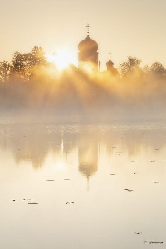 рассве, введенское, утро, солнце Рассвет над Введенскимphoto preview