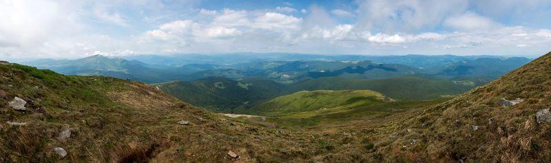 говерла, карпаты, горы, вершина, панорама Вид с Говерлыphoto preview