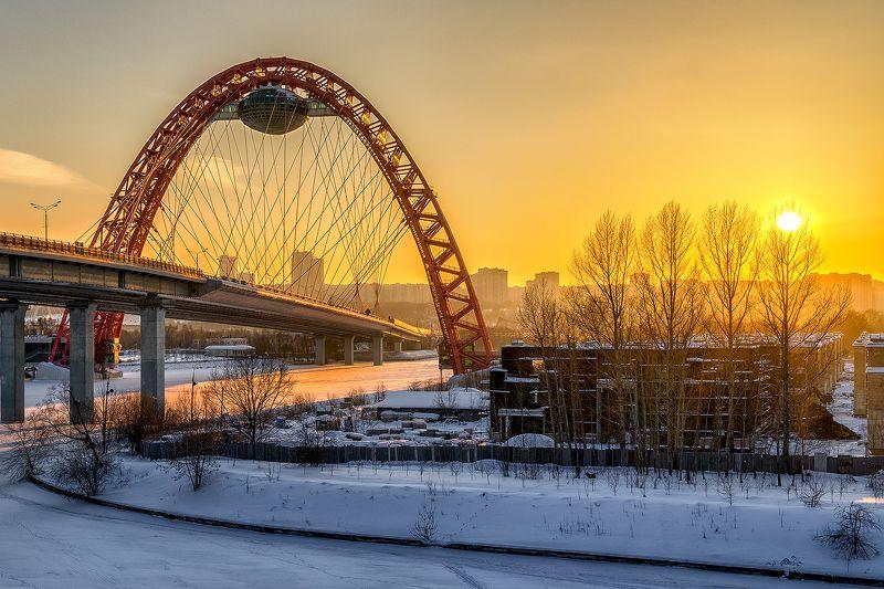 москва столица sony moscow msk russia россия urban landscape живописный мост закат Закат.photo preview