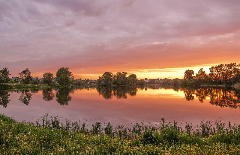 лето,небо,дождь,закат Закатное небоphoto preview