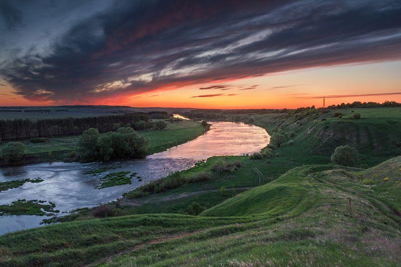 закат,вечер,отражения Красочный вечерphoto preview