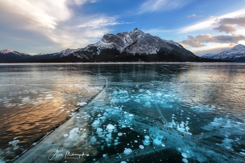 канада, альберта, метан, метанин, пузыри, лед, фото-тур, отражение, зима, снег, лед, горы, озеро, байкал, Канадский Ледphoto preview