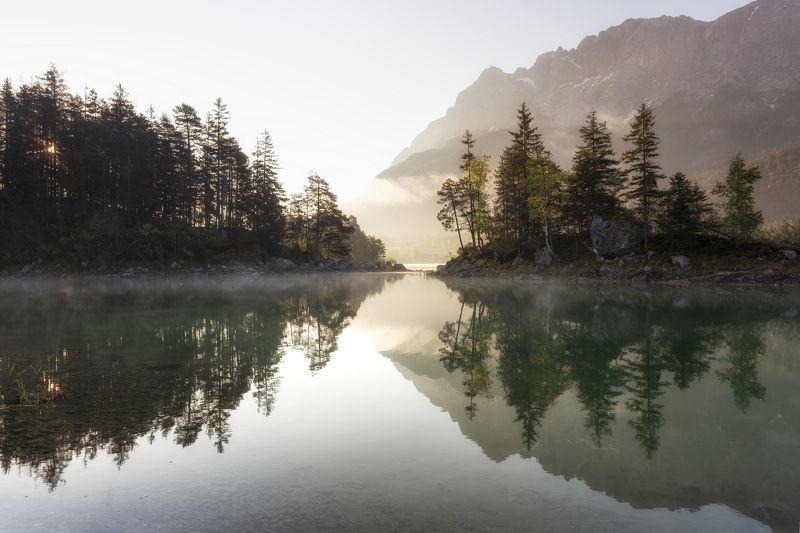 Озеро, рассвет, Германия Рассветphoto preview