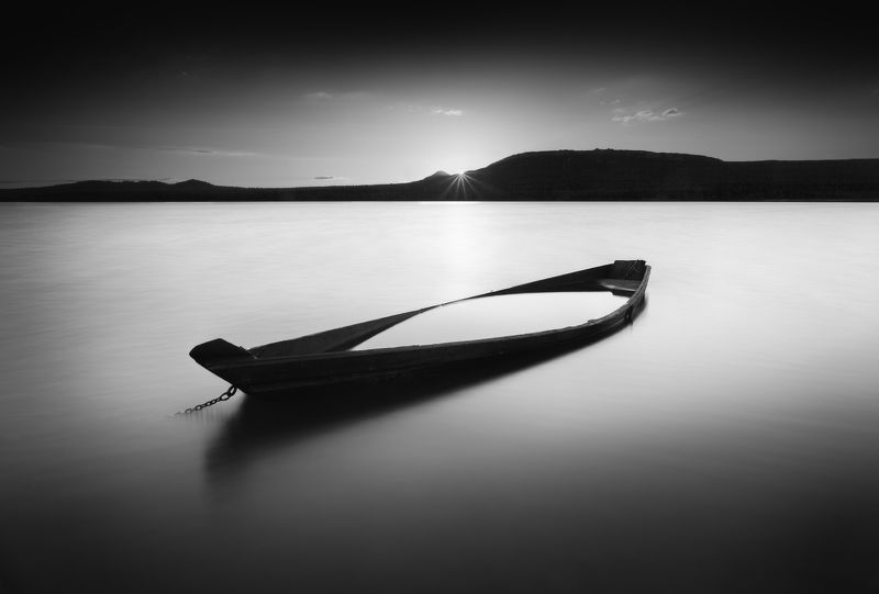 зюраткуль, закат, лодка Зюраткуль-Дзен ч.2photo preview