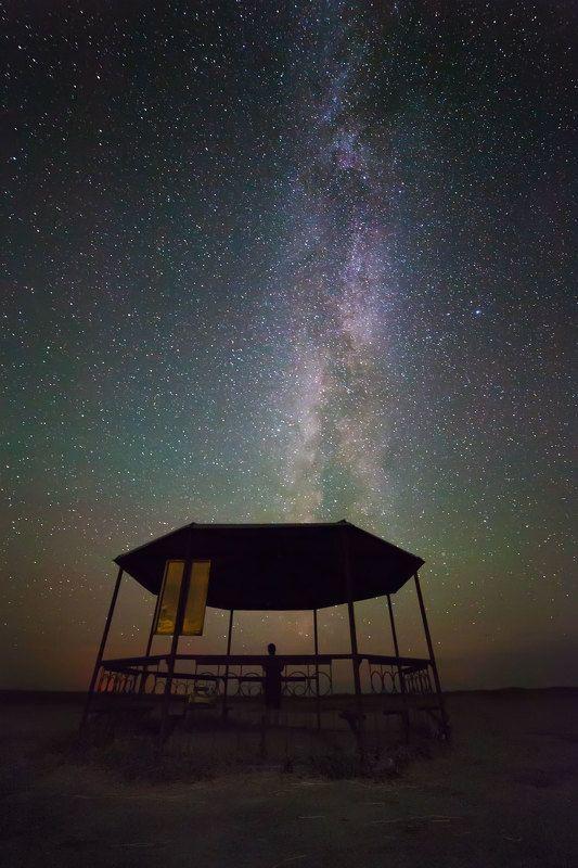 ночь, млечный путь, звёзды тихое местоphoto preview