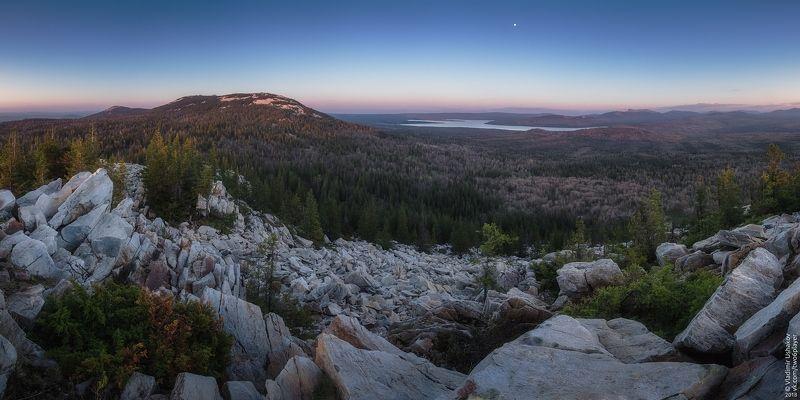 вечер, небо, горы, голая сопка, национальный парк, зюраткуль, челябинская область Зюраткульphoto preview