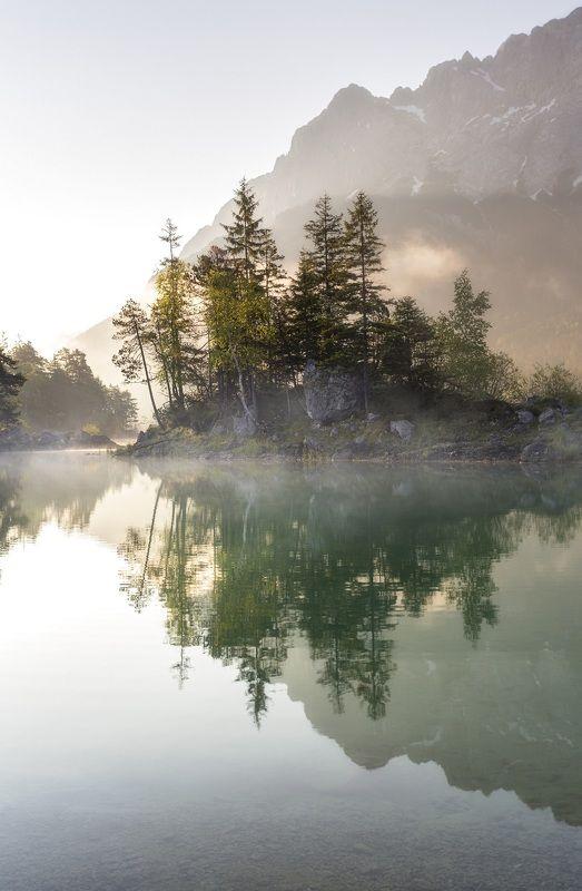 остров, озеро, Германия Горное озероphoto preview