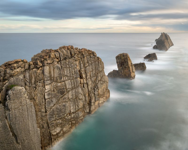 atlantic, beach, blue, cantabria, cantabrian, cliff, clouds, coast, coastline, dawn, dramatic, europe, foam, formation, fracture, geology, island, islet, landmark, landscape, liencres, limestone, magnificent, minimalism, morning, nature, ocean, overcast,  The Wallphoto preview