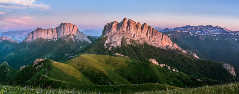 адыгея, пейзаж, чертовы ворота, горы Безоблачные Ачешбокиphoto preview