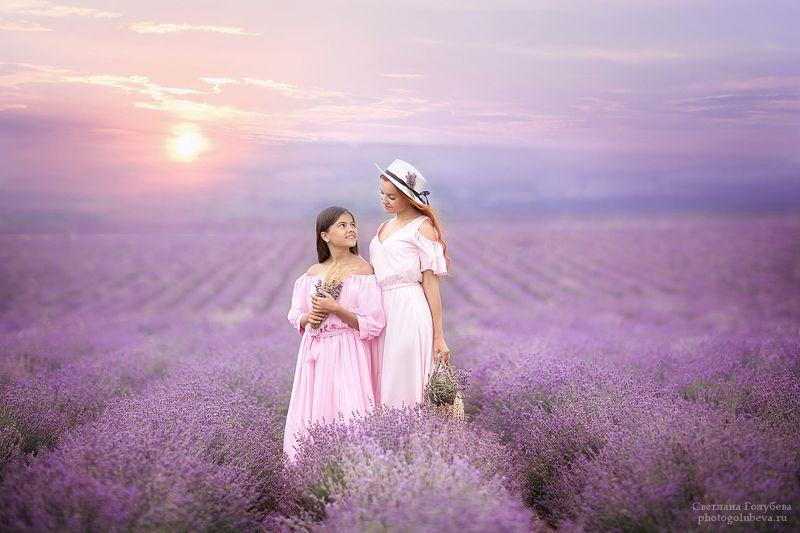 семья, лаванда, крым, красота, мама и дочка, семейная фотосессия Лавандовая нежностьphoto preview