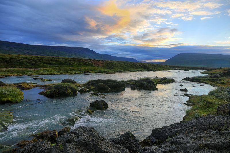 пейзаж, путешествие, река, закат,travel, landscape, river Вечер у рекиphoto preview