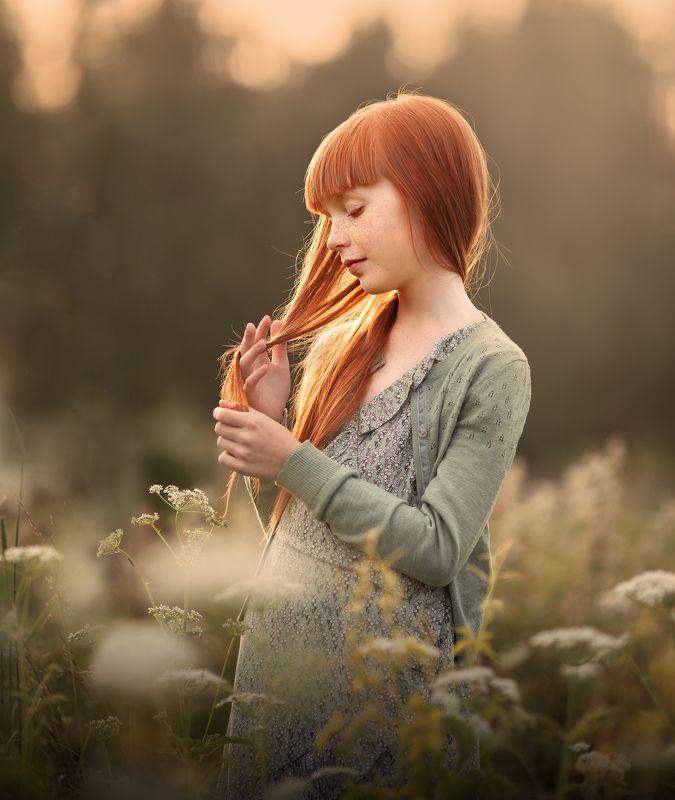 волшебный свет, закат, рыжие, рыжие волосы, sunset, sunlight, beautiful light, red hair Рыжикphoto preview