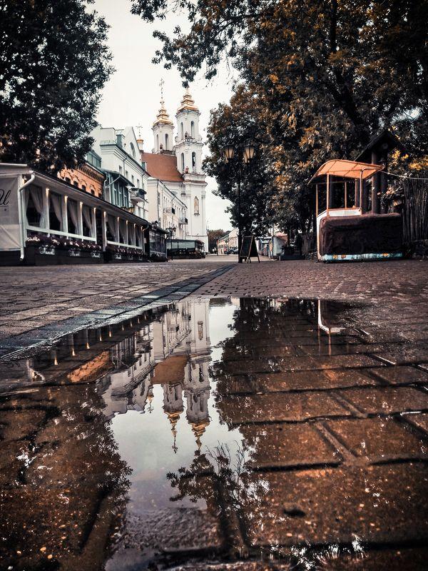 собор, витебск, после дождя, помолейко, городской пейзаж, городской вид, отражение, отражение в луже, парк, городской парк, vitebsk, cityscape, reflection, pomoleyko После дождяphoto preview