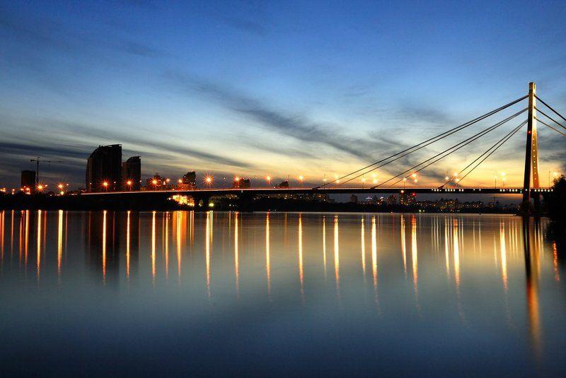 огни, ночного, города, мост Огни ночного городаphoto preview