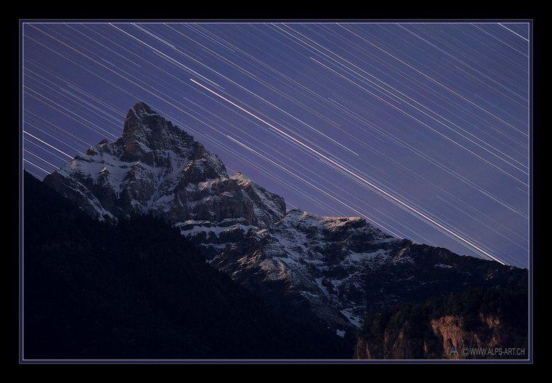 Куда летят звезды... (или, фрагмент из time-lapse в 1 кадре)photo preview