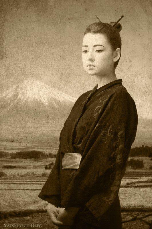 портрет, студия, девушка, японочка, япония, гейша, фуджи, фудзияма, ретро ***photo preview