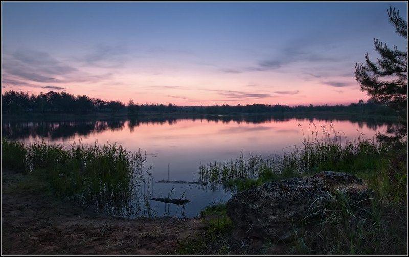пейзаж, утро, рассвет, лес, озеро Утречко...photo preview