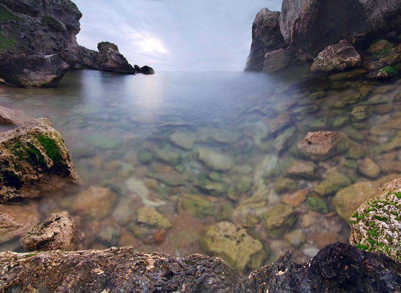 крым, море, весна Казантипphoto preview