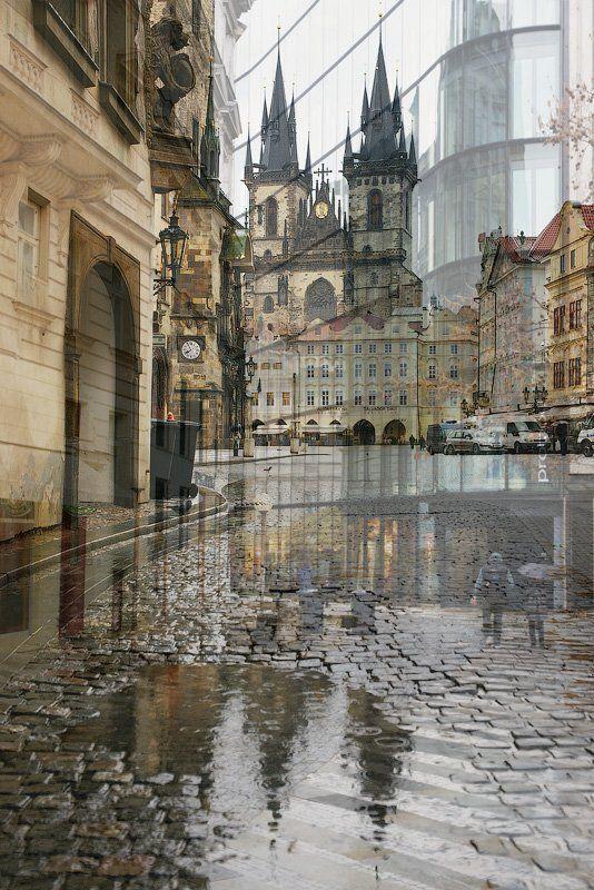 прага, город, геометрия photo preview
