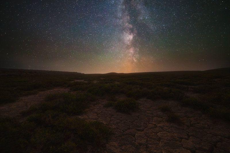млечный путь, ночь, звёзды ночь в степиphoto preview