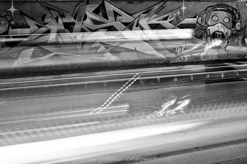 street,light,speed,car,blurred,motion,night,traffic,graffiti,spray,art,abstract, ...photo preview