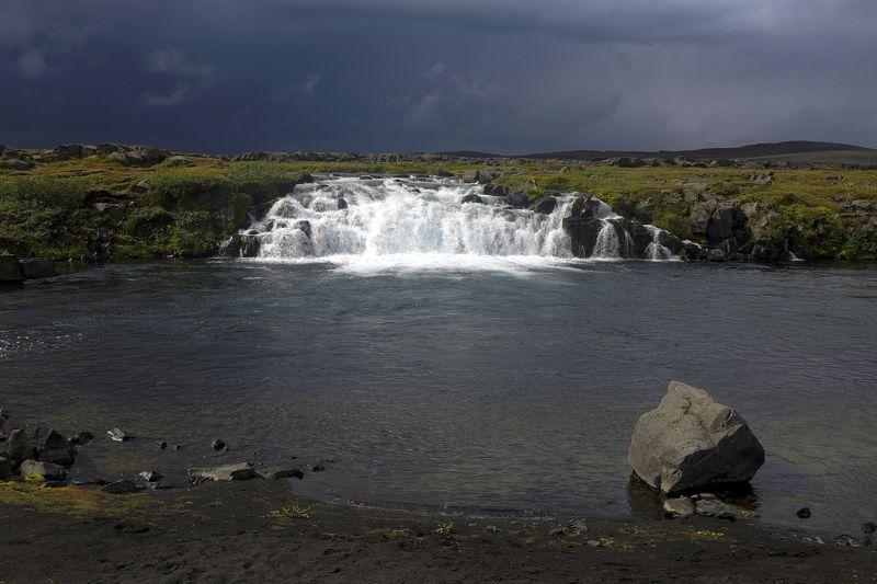 путешествие, пейзаж, водопад, река, travel, landscape Перед дождемphoto preview