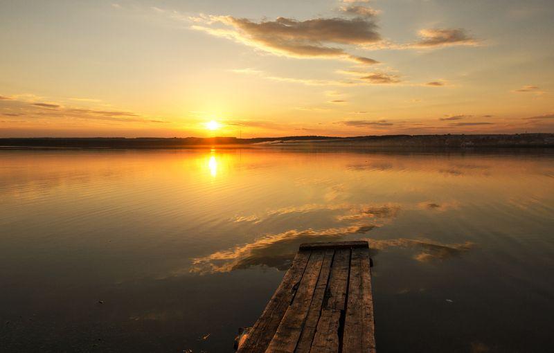 закат, природа, Россия  Провожая закатphoto preview